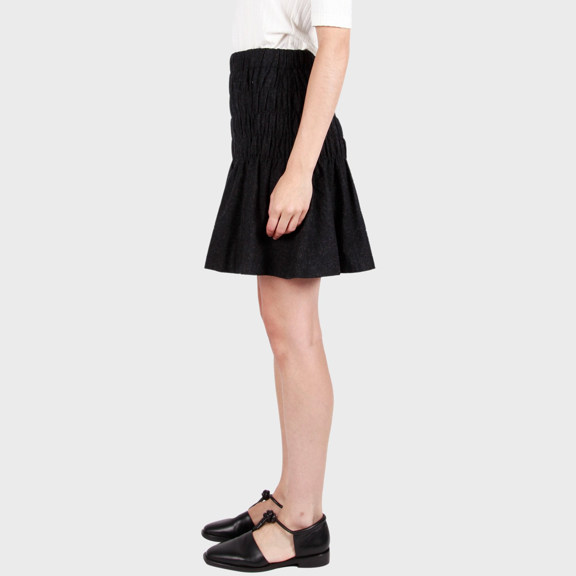 CONNIE SKIRT / CHARCOAL
