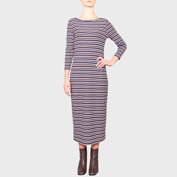 GLORIA DRESS / MULTI STRIPE