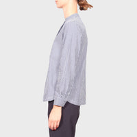 AVA SHIRT / NAVY-WHITE