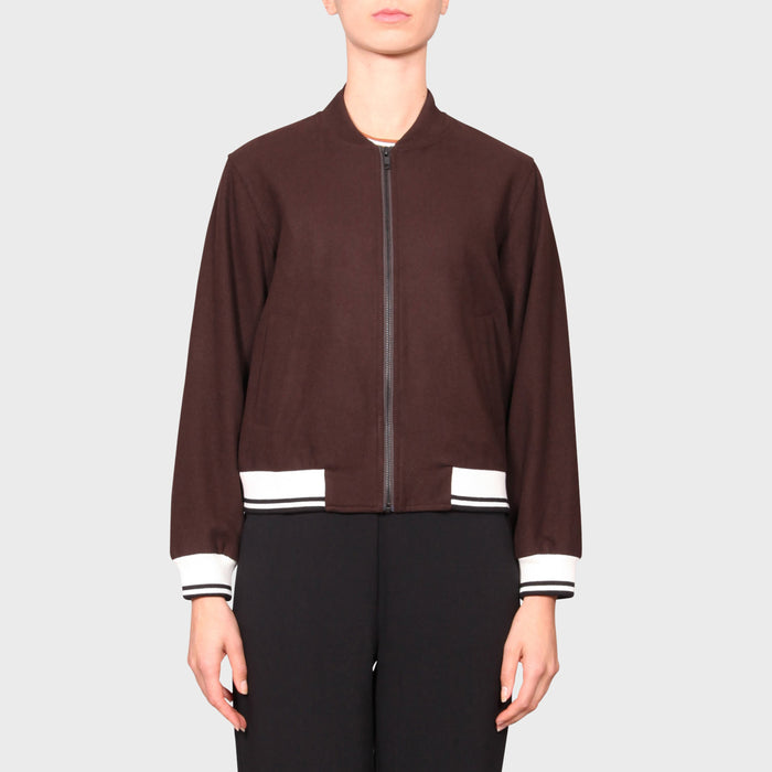 JOELEEN BOMBER / CHOCOLATE-WHITE-BLACK