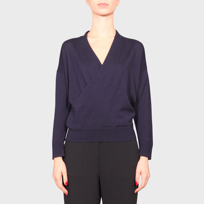 NIKKI KNIT TOP / NAVY