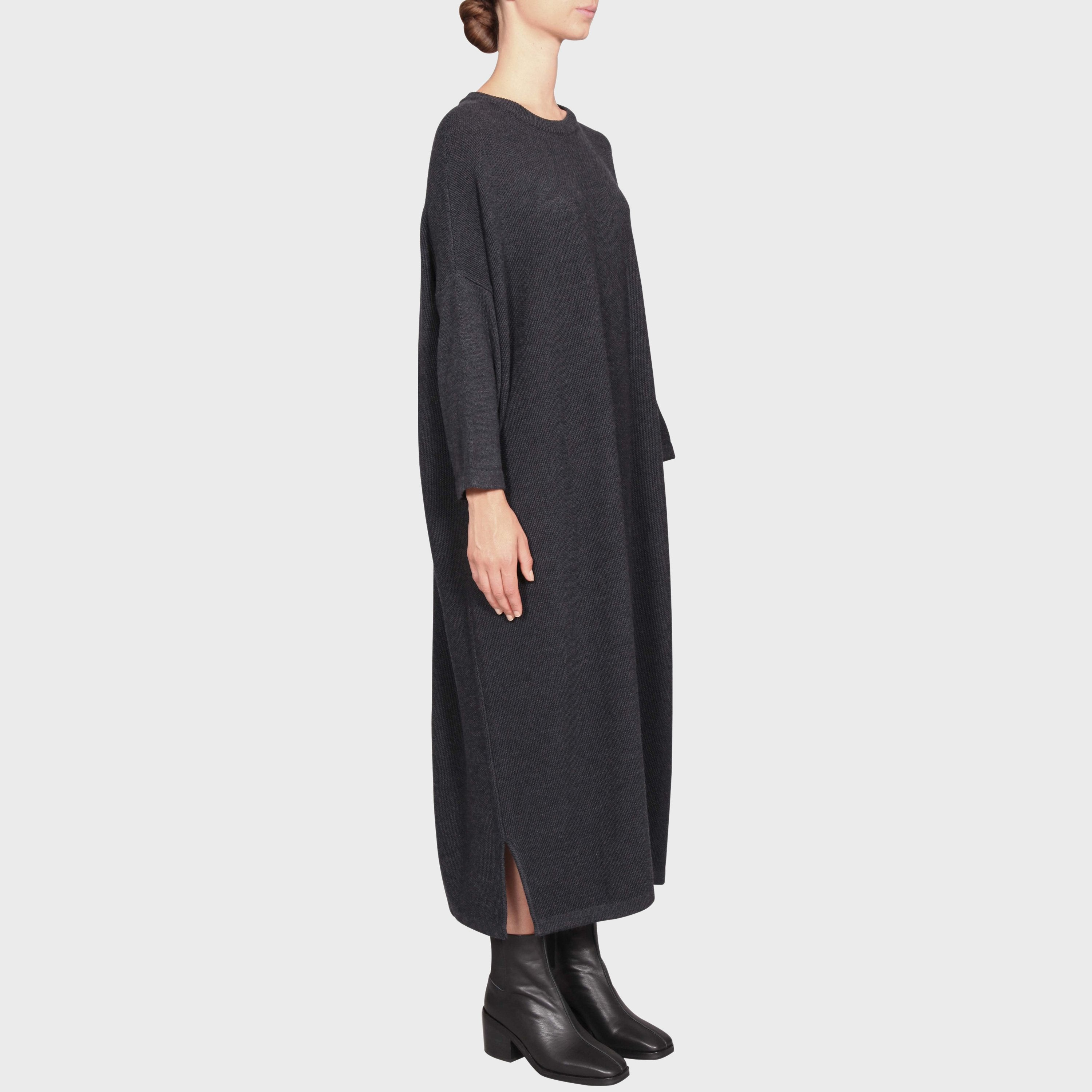 MARCELLE KNIT DRESS / CHARCOAL