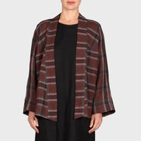 XENA JACKET / BROWN-BLACK