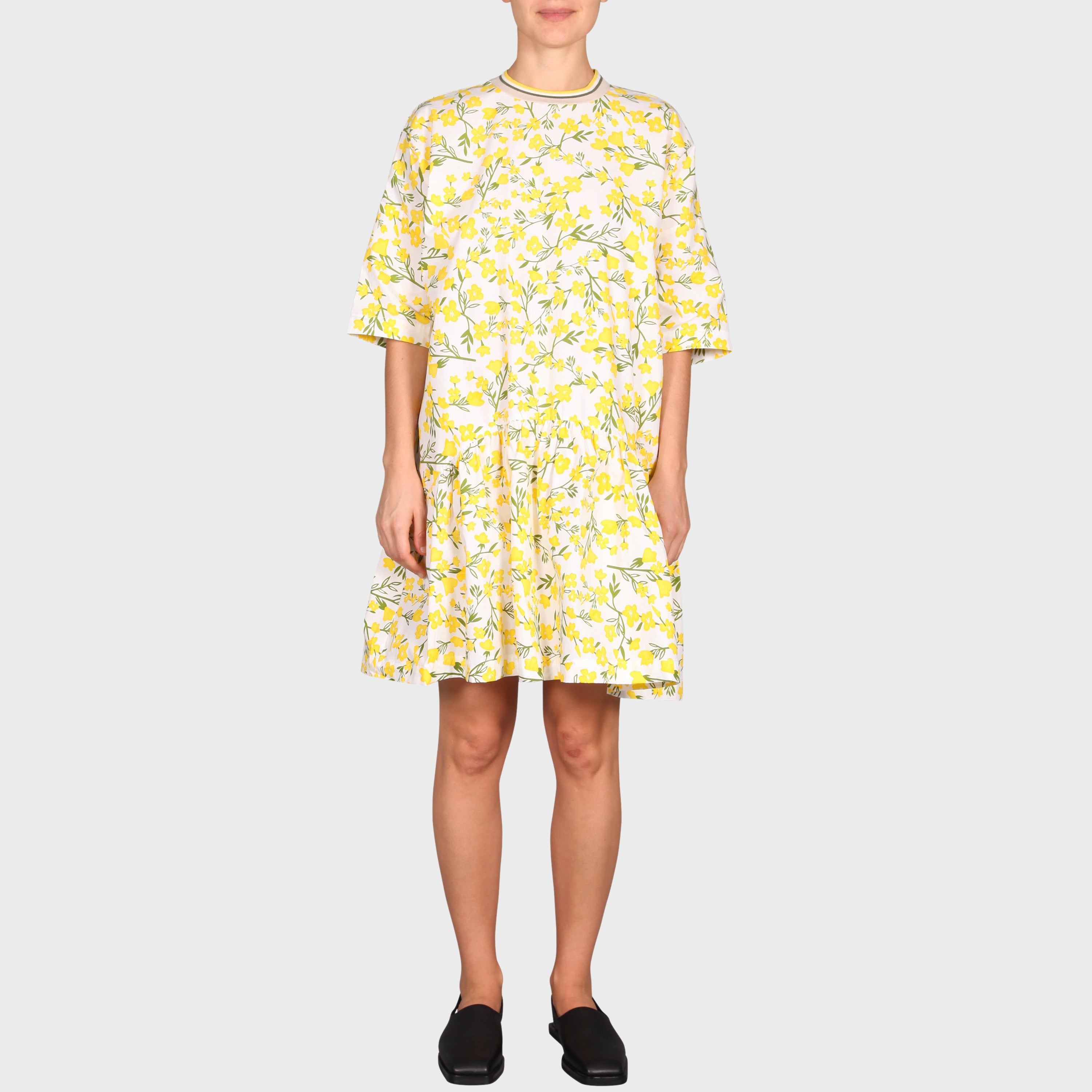 CECILIA DRESS / YELLOW FLORA