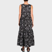 JOELENE DRESS / BLACK-WHITE