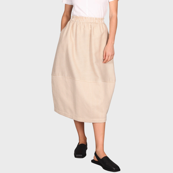 CYRA SKIRT / BEIGE-CREAM