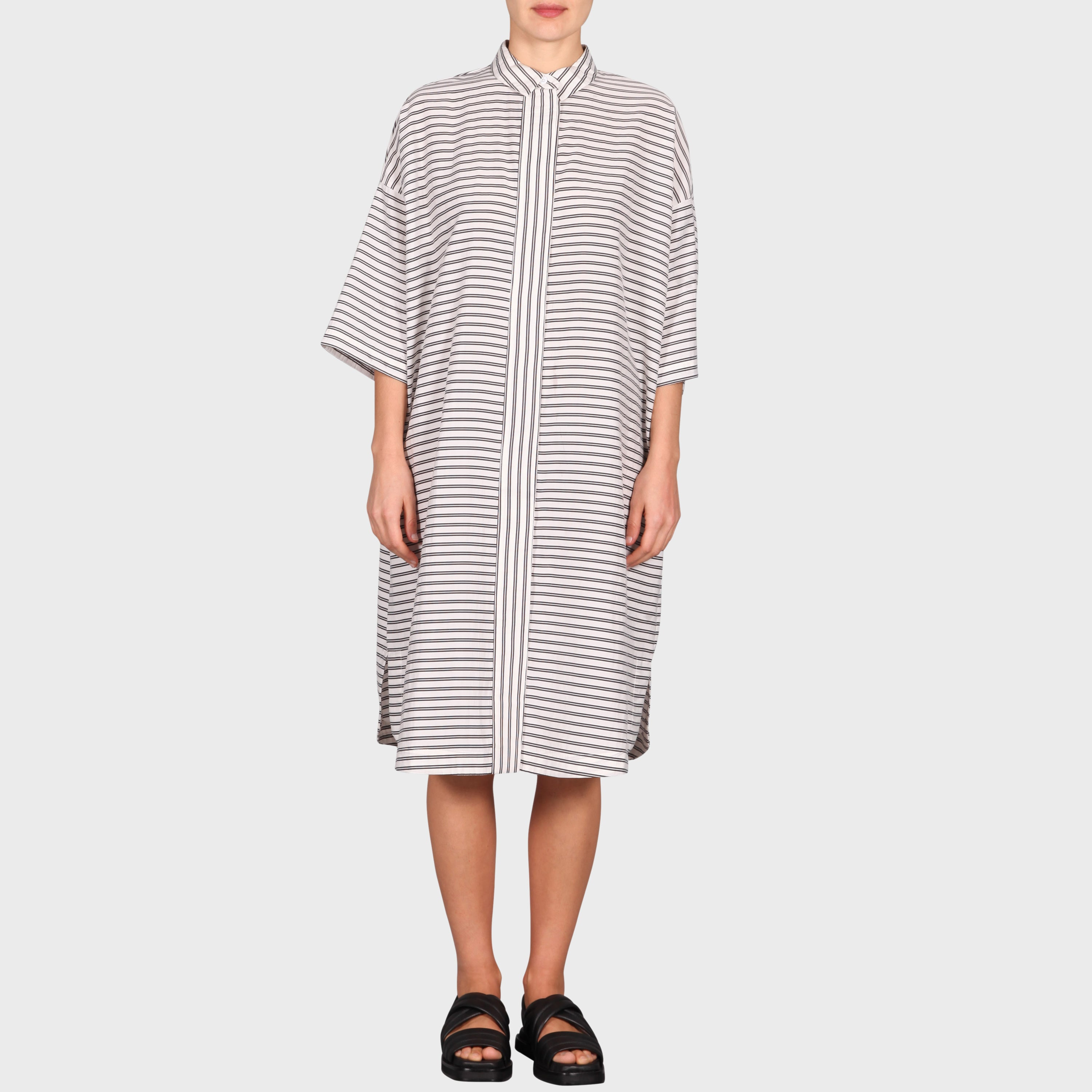 BENH DRESS / WHITE-BLACK