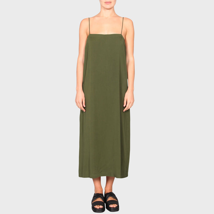 CLAIRE SLIP DRESS / KHAKI
