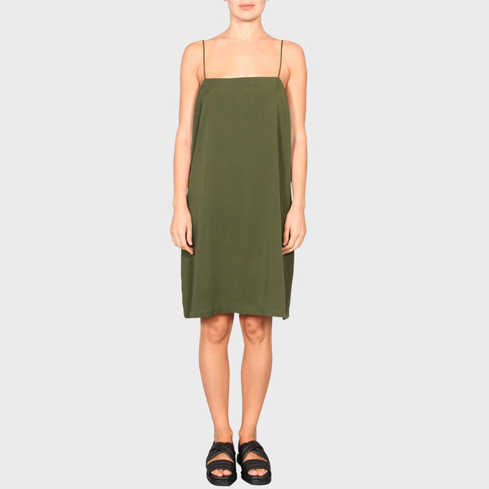 RACHEL SLIP DRESS / KHAKI
