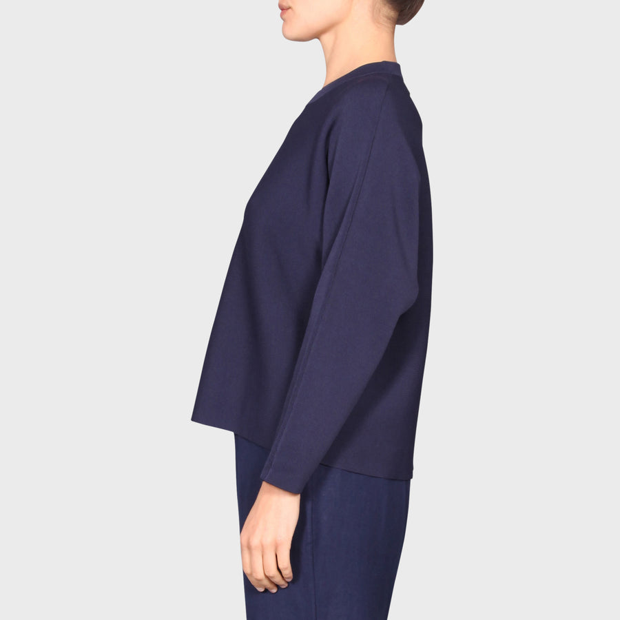 MILA KNIT SWEAT / NAVY
