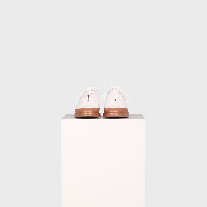 AYLA SHOE / WHITE-TAN