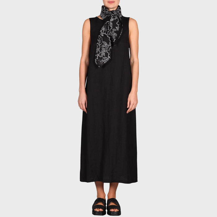 LOUISE SCARF / BLACK-WHITE