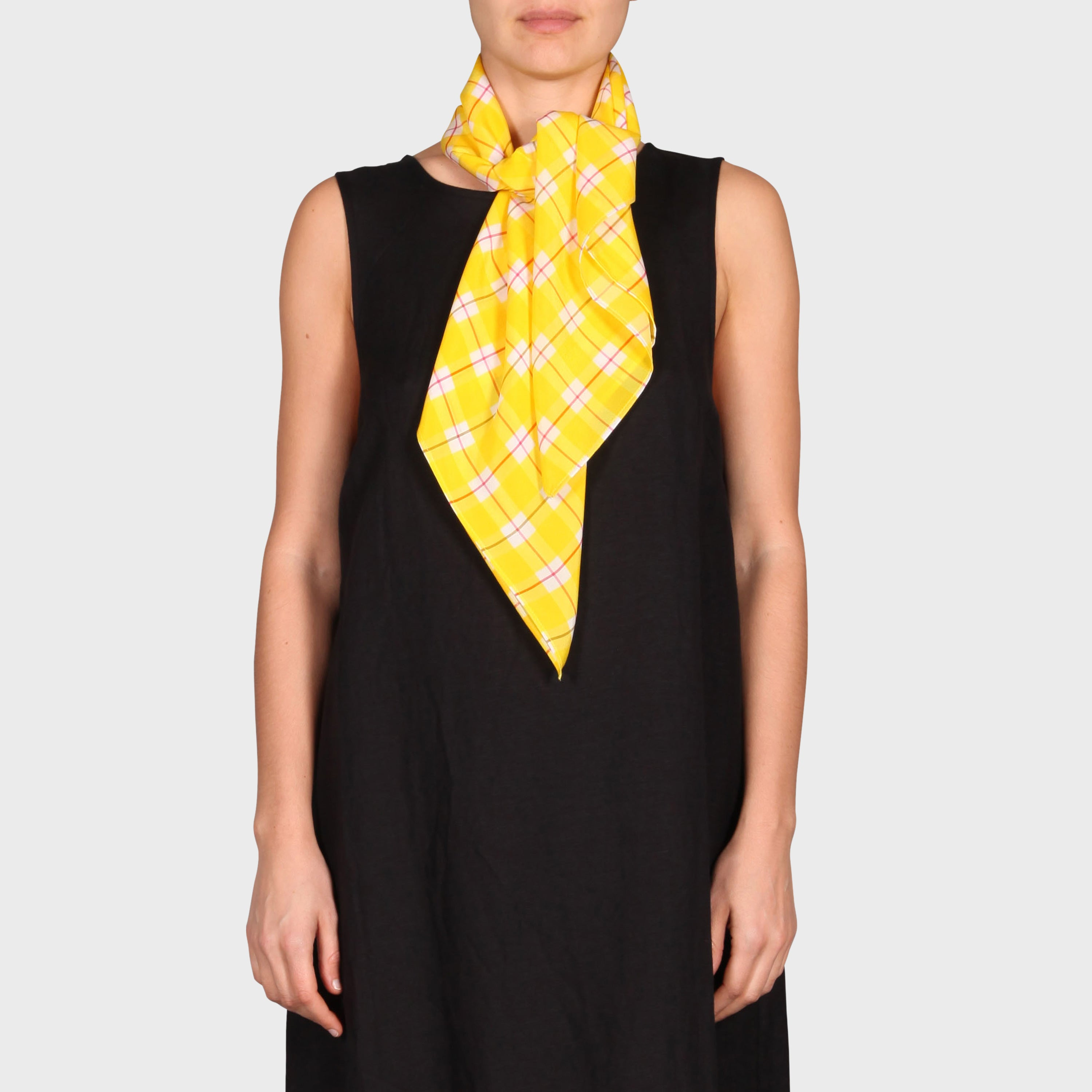 LOUISE SCARF / YELLOW CHECK