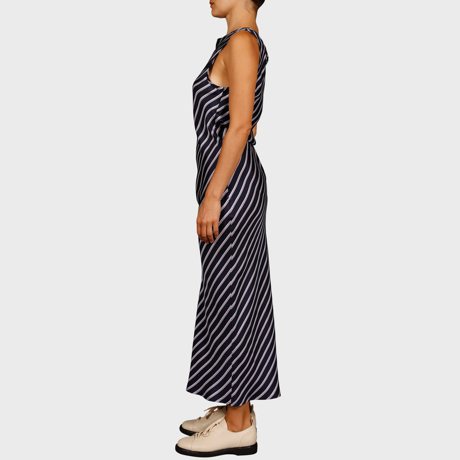 STELLA DRESS / NAVY STRIPE