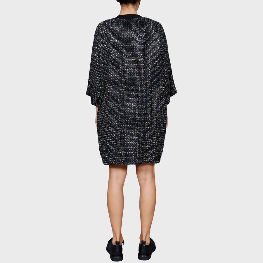 YUMI DRESS / BLACK-MULTI