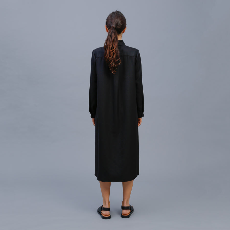 LUCY SHIRT DRESS / BLACK