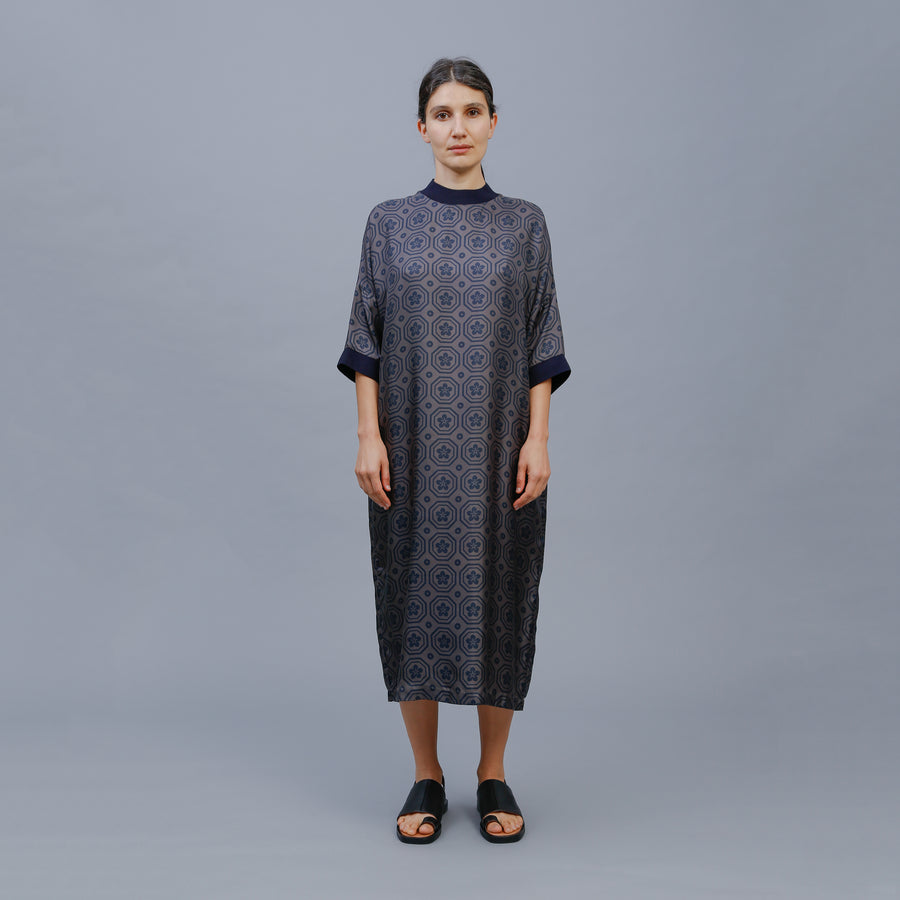 PHEOBE DRESS / GREY-INK