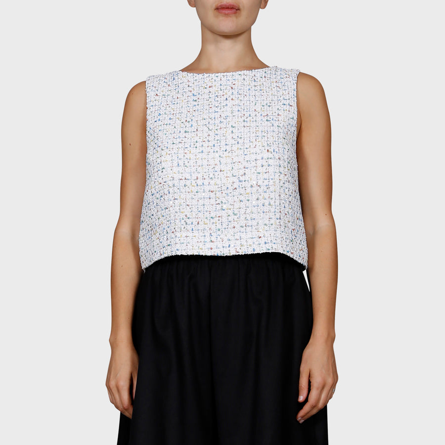SAM TOP / WHITE-MULTI