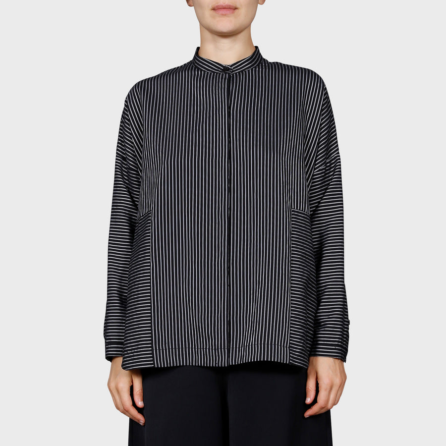EVERLY SHIRT / BLACK-WHITE