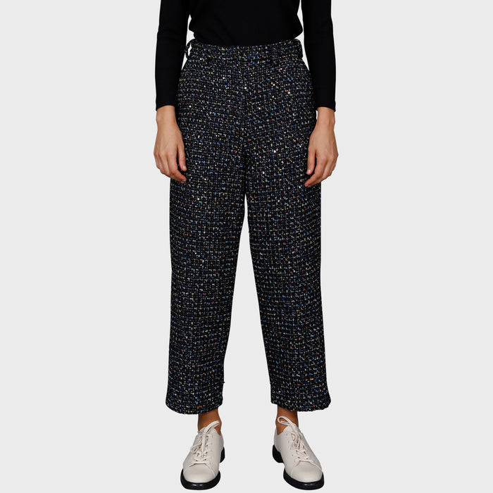 SHANNON PANT / BLACK-MULTI