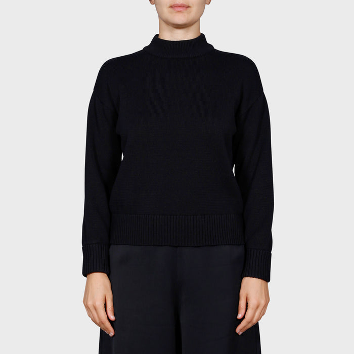 DARLA KNIT SWEAT / BLACK