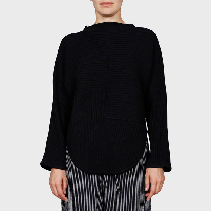 FRANKI KNIT SWEAT / BLACK