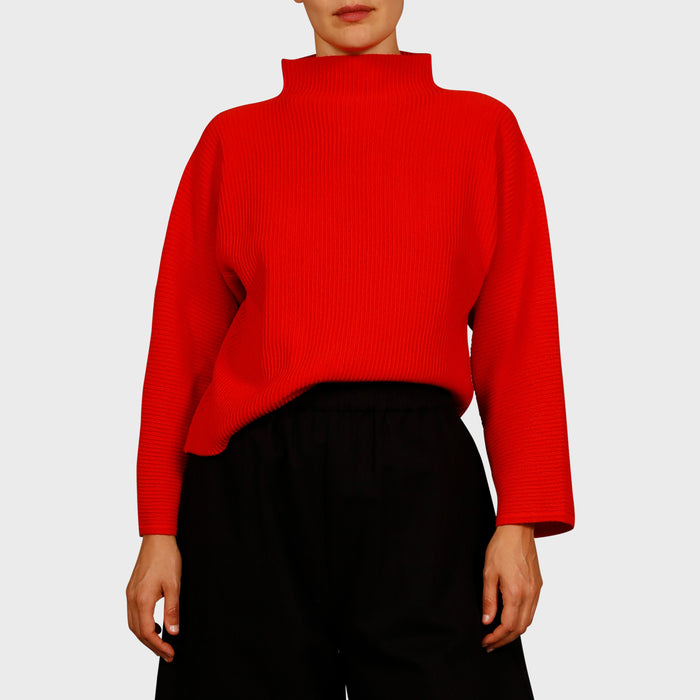 BONNIE KNIT SWEAT / RED
