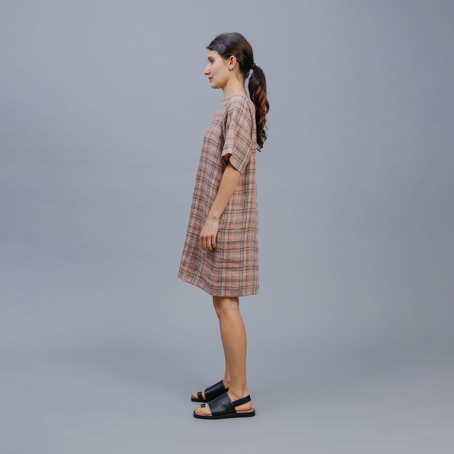 EDEN DRESS / CLAY CHECK