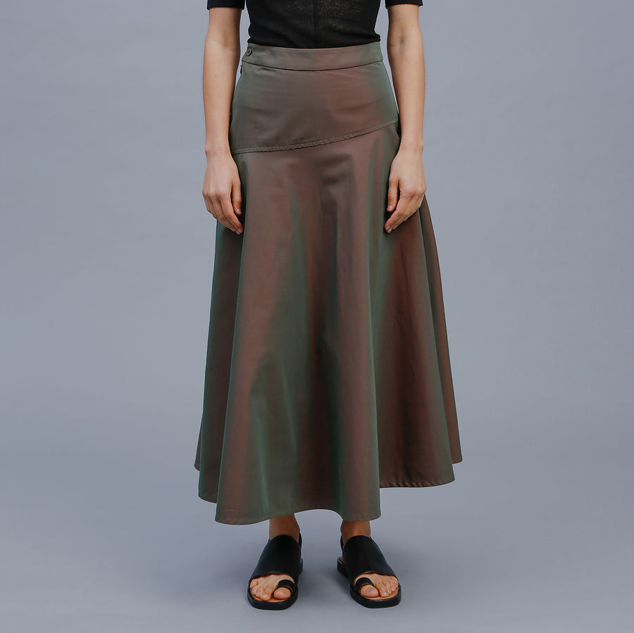 FELIX SKIRT / GREEN SHOT