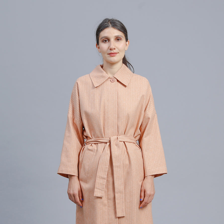 JAMIE JACKET / ORANGE-BEIGE