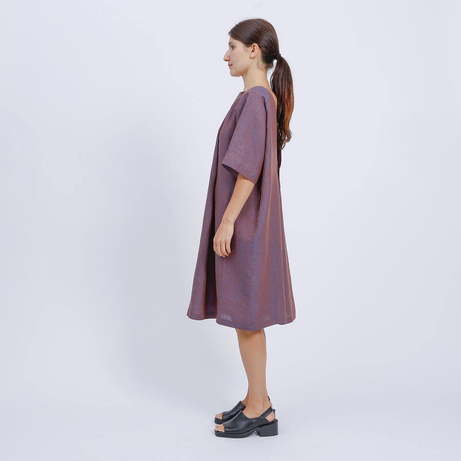 GENE DRESS / BRONZE-BLUE