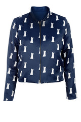 Cute Navy Reversible Jacket