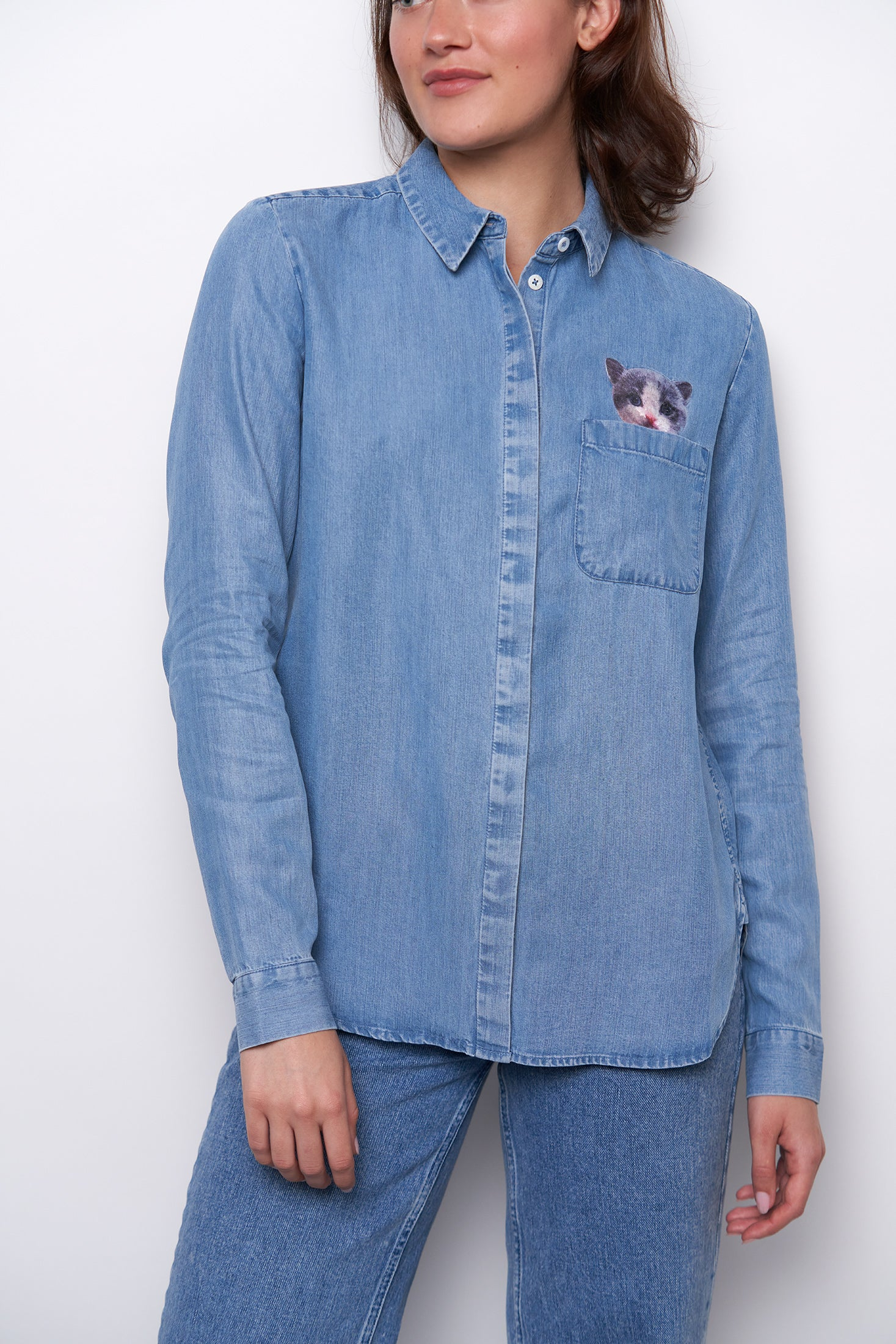 Dana Shirt - Light Blue-2