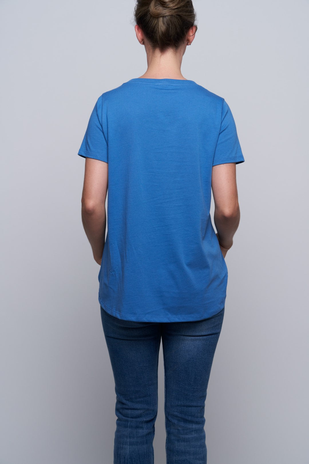 Glendale Cat Pocket Tee - Blue-3