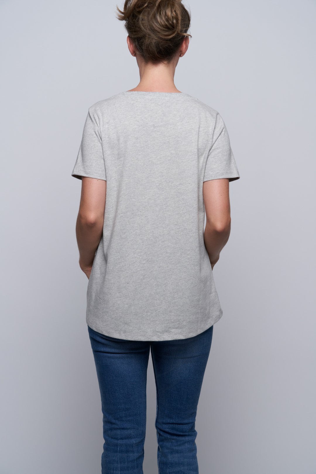 Glendale Cat Pocket Tee - Grey-3