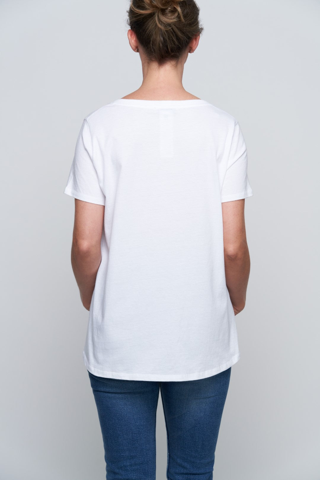 Glendale Cat Pocket Tee - White-5