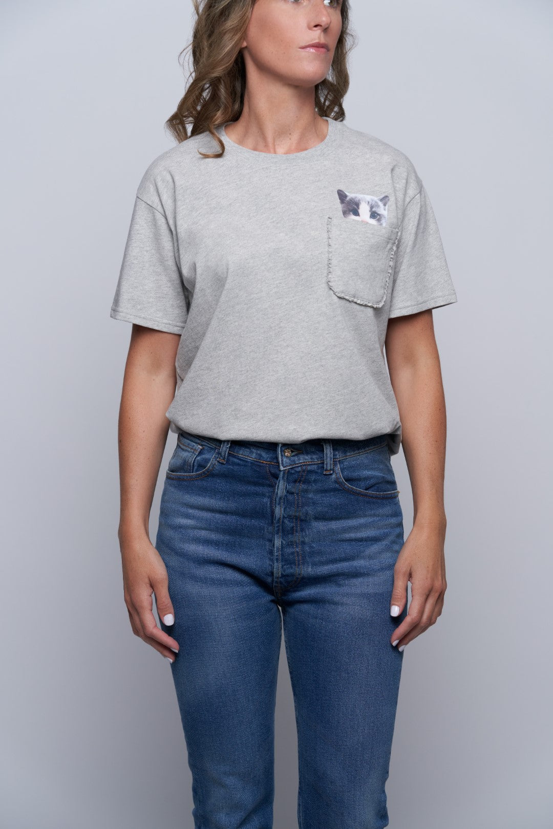 Lewis Cat Pocket Tee-4