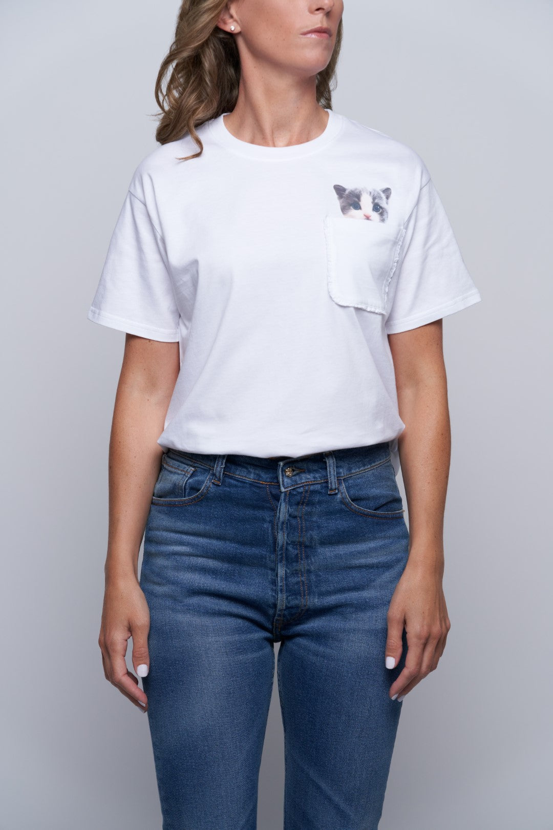 Lewis Cat Pocket Tee-2