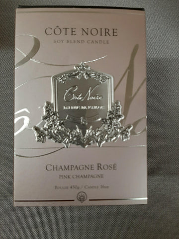 COTE NOIRE 450G CANDLE-PINK CHAMPAGNE