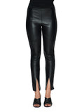 SABATINI LEATHER PIPED SIDE PANTS