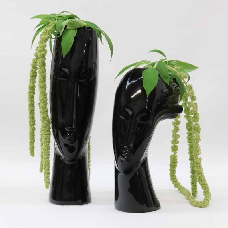 LE FORGE BLACK FACE VASE 1