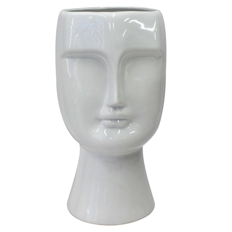 LE FORGE ANGELO CERAMIC LARGE FACE VASE