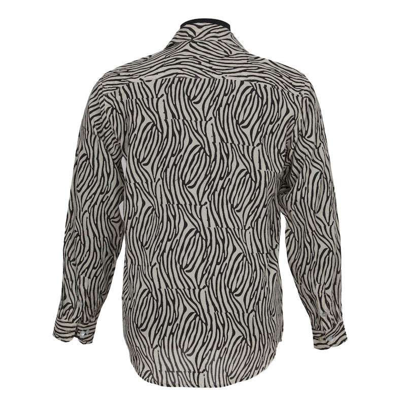 Fabulloso Men's Animal Print Cotton Shirt