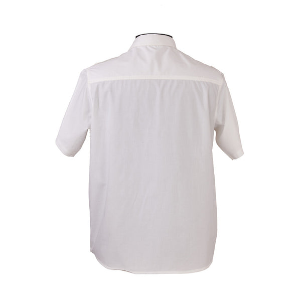 Fabulloso Men's White Half Sleeves Shirt