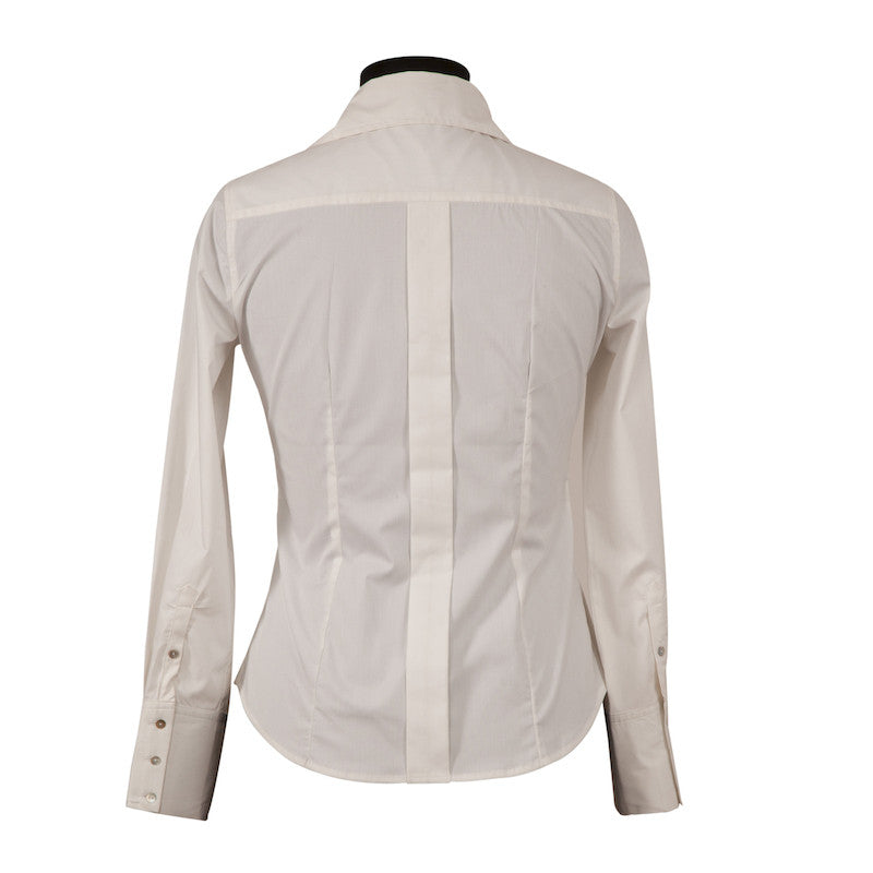 Fabulloso Women's Cotton Lycra Shirt White