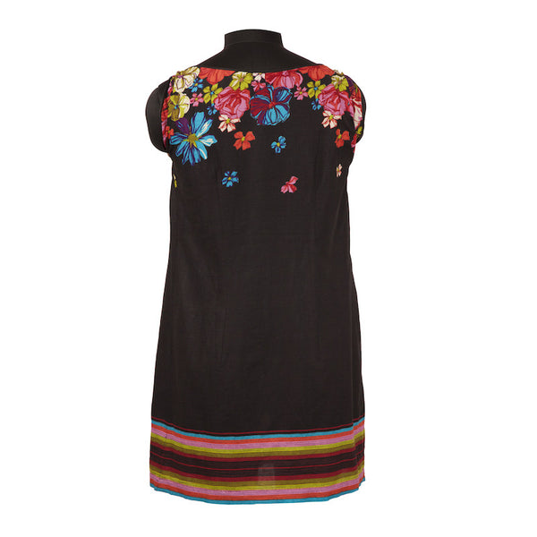Fabulloso Black Smocked Tunic