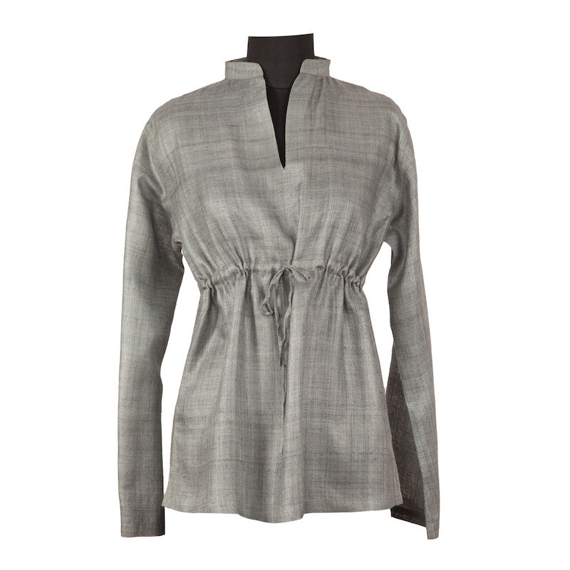Fabulloso Women's Grey Silk Top