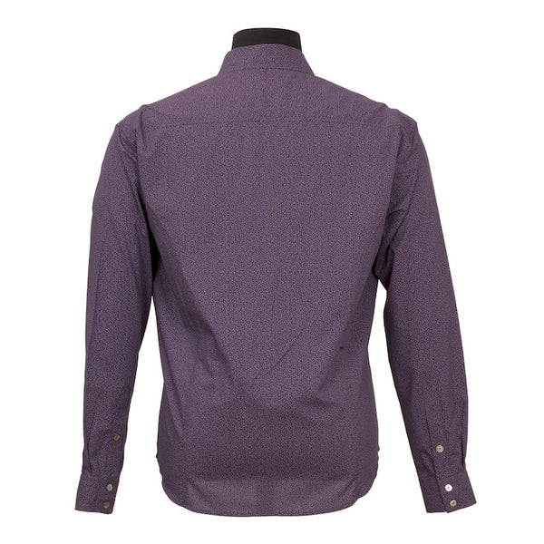Fabulloso Men's Full Sleeves Purple Shirt