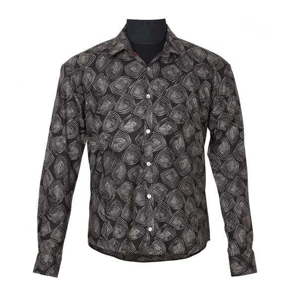 Fabulloso Men's Black Full Sleeves Shirt