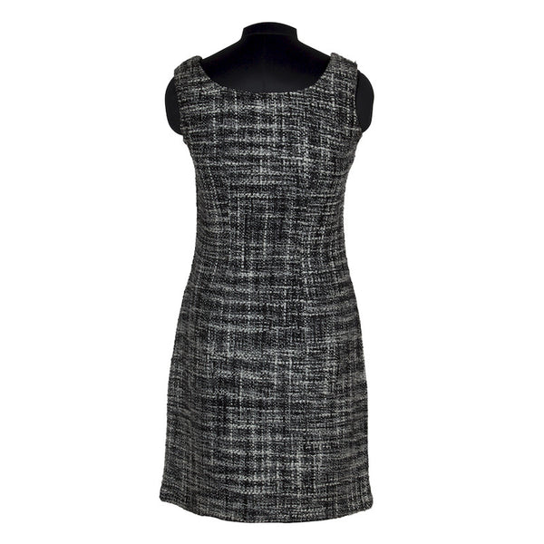 Fabulloso Black and White Tweed Dress